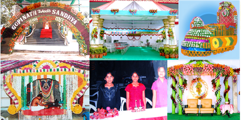 wedding stage decorators in tirupati