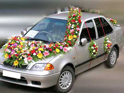 Wedding  Decorations on Wedding Stage   Band Set   Wedding Car Decoration   Wedding