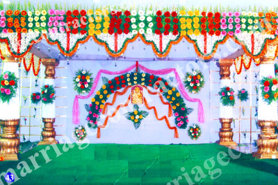 wedding stage decoration in tirupati